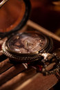 Pocket Watch Close-up Lying On Top Of The Package Of Cuban Cigar Stock Photo - 51622810