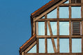 Half-timbered House With Glass Wall Royalty Free Stock Image - 51624366