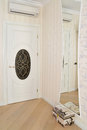 Fragment Of An Interior Of A Living Room With A White Door And A Stock Photography - 51625592