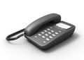 Stationary Push-button Telephone On A White Royalty Free Stock Photo - 51633875