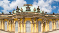 Facade Of Sanssouci Castle In Potsdam, Germany Royalty Free Stock Image - 51639846