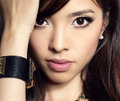 Young Beautiful Asian Woman With Flawless Skin And Perfect Make-up And Brown Hair Stock Images - 51647754