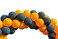 Balloons Black And Orange Royalty Free Stock Images - 51657359