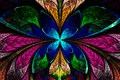 Multicolored Symmetrical Fractal Pattern As Flower Or Butterfly Stock Photos - 51659643