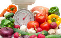 Fresh Food And Kitchen Scale Closeup Stock Photos - 51668543