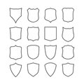 Big Set Of Blank, Classic Shields, Templates Stock Image - 51668811