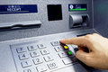 ATM - Entering Pin Royalty Free Stock Photography - 51678717