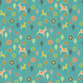 Seamless Pattern With Deers Royalty Free Stock Photography - 51686957