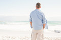 Man Looking Out To Sea Stock Image - 51691601