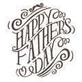 Happy Fathers Day Hand Drawn Typography EPS 10 Vector Royalty Free Stock Images - 51707989