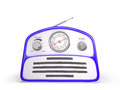 Old Blue Vintage Retro Style Radio Receiver Royalty Free Stock Image - 51708996