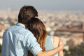 Couple Dating In Love And Hugging Watching The City Stock Image - 51723891