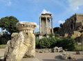 Columns In Roman Forum Ruins In Rome Royalty Free Stock Photography - 51727027