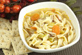 Homemade Chicken Noodle Soup Royalty Free Stock Photo - 51728595