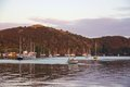 Sunrise And Boats In The Harbour Of Mangonui, New Zealand Royalty Free Stock Photography - 51728777