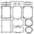 Set Of Vintage Decorative Borders And Frames. Stock Photo - 51735240