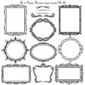 Set Of Vintage Decorative Borders And Frames. Stock Photo - 51735310