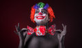 Scary Clown With Spooky Makeup And More Candy Royalty Free Stock Image - 51748956