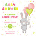 Baby Shower Or Arrival Card Stock Image - 51756031