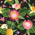 Tropical Flowers Background Stock Image - 51756671