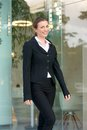 Charming Business Woman Walking Outside In The City Stock Photography - 51757242