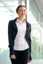 Charming Business Woman Smiling And Walking Outside Stock Photos - 51757793