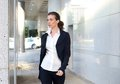 Attractive Business Woman Walking Outside Royalty Free Stock Image - 51758156