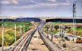 High-speed Railway LGV Est Phase II Under Construction Near Save Royalty Free Stock Photography - 51777797