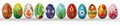 Hand Painted Easter Eggs Isolated On White Stock Photo - 51778890