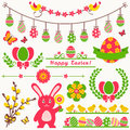 Happy Easter! Vector Design Elements. Royalty Free Stock Image - 51789826