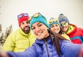 Snowboarders Taking Selfie Stock Photos - 51790813