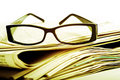 Reading Glasses On Newspapers Stock Photo - 5189100