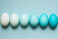 Row Of Ombre Easter Eggs Royalty Free Stock Photo - 51803995