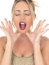 Attractive Young Woman Shouting Or Calling Out For Attention Or Help Stock Photos - 51805373