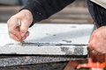 Workers Are Working, Cutting Marble Cutter Royalty Free Stock Photo - 51807045