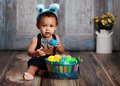 Little Blue Easter Bunny Royalty Free Stock Images - 51812649