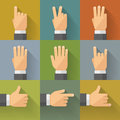 Finger Count Icons 001 Royalty Free Stock Photos - 51821078
