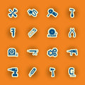 Sixteen Homebuilding And Construction Icons Royalty Free Stock Photography - 51828767