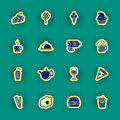 Sixteen Food And Drink Icons Royalty Free Stock Photo - 51829515