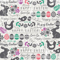 Easter Background With Bunnys And Eggs Stock Images - 51848434