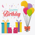Happy Birthday Card Design. Stock Image - 51852491