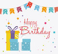 Happy Birthday Card Design. Royalty Free Stock Photo - 51853335