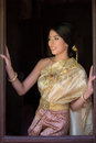 Thai Woman In Traditional Costume Of Thailand Royalty Free Stock Photography - 51857047