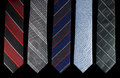 Five Neckties Is Different Colors Royalty Free Stock Photography - 51857247