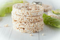 A Stack Of Plain Rice Cakes Royalty Free Stock Photography - 51859037