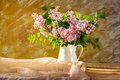 Still Life Bouquet Lilacs Flowers Bloom Royalty Free Stock Photography - 51868597