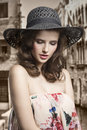 Pretty Woman With Hat Royalty Free Stock Images - 51874159