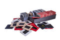 Old 35 Mm Mounted Film Slides And Plastic Boxes Royalty Free Stock Image - 51884756
