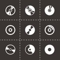 Vector Cd Icon Set Royalty Free Stock Images - 51885519
