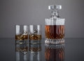 Scotch In A Liquor Decanter With Tumblers Royalty Free Stock Photo - 51890085